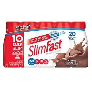 SlimFast Ready to Drink, 11 oz Bottles, 20 pk, Milk Chocolate