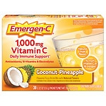Emergen-C 1000 mg Vitamin C, Coconut Pineapple- 30 ea