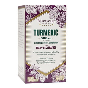 ReserveAge Nutrition Turmeric 500mg with Trans-Resveratrol