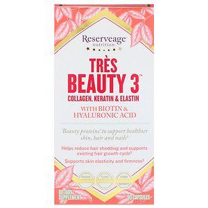 ReserveAge Nutrition Tres Beauty 3 Collagen, Keratin & Elastin