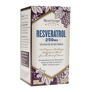 ReserveAge Nutrition Resveratrol 250mg Cellular Age-Defying