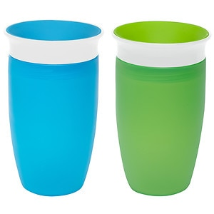 Munchkin Miracle 360 Degree 10oz Sippy Cup, 2 pk, Green and Blue