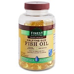 Finest Nutrition Half-the-Size Fish Oil 1000 mg, Softgels- 200 ea