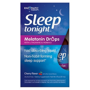 Enzymatic Therapy Sleep Tonight Melatonin Drops, Cherry
