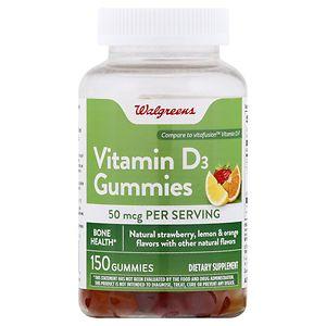Walgreens Vitamin D3 2000 IU Gummies, Fruit