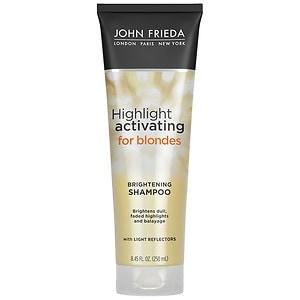 John Frieda Sheer Blonde Highlight Activating Enhancing Shampoo, For Lighter Shades, For Platinum to Champagne Blondes- 8.45 fl oz