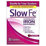 Slow Fe Slow Release Iron, Tablets- 30 ea