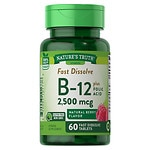 Nature's Truth Vitamin B-12 Plus Folic Acid 2500mcg, Berry- 60 ea