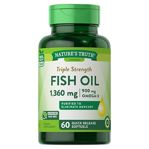 Nature's Truth Triple Strength Fish Oil 1360mg, 60 ea
