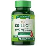 Nature's Truth 100% Pure Red Krill Oil 1000mg Omega-3- 60 ea