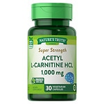 Nature's Truth Super Strength Acetyl L Carnitine HCL 1000mg, Capsules- 30 ea