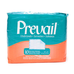Prevail Underpads, Extra Large 30 x 36 Inches- 10 ea