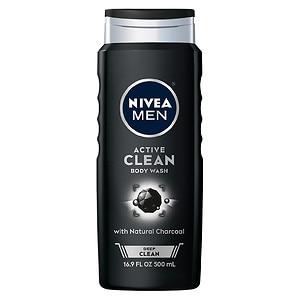 Nivea Men Body Wash Active Clean, 16.9 oz