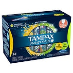 Tampax Pearl Pocket Pearl Compact Tampons, Regular Super- 34 ea