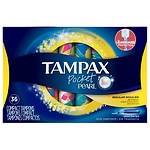 Tampax Pearl Tampons Pocket, Regular- 36 ea