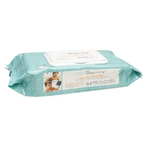 Well Beginnings Baby Wipes, Shea Butter