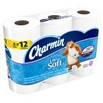 Charmin Ultra Soft Toilet Paper Double Rolls- 6 ea