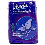 Veeda Natural Ultra Thin Night Pad With Wings- 12 ea