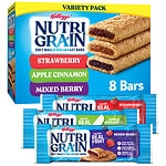 Nutri-Grain Soft Baked Bars Variety Pack, Strawberry, Apple Cinnamon, Mixed Berry, 8 pk- 1.3 oz
