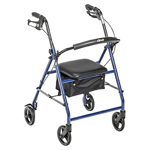 Drive Medical Rollator with 6in Wheels, Blue