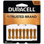 Duracell Hearing Aid Batteries, 312- 24 ea