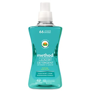 method Laundry Detergent 4x Concentrated, Beach Sage, 66 load
