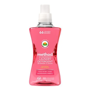 method Laundry Detergent 4x Concentrated, Spring Garden, 66 load