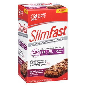 SlimFast Advanced Nutrition 10g Protein Meal Replacement Bar,
