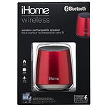 iHome BT Rechargeable Mini Speaker, Red- 1 ea
