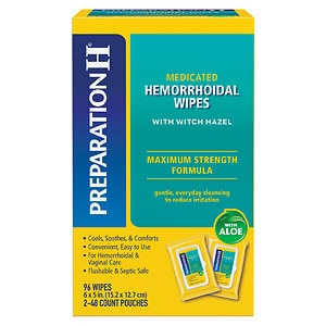 Preparation H Medicated Wipes- 96 ea