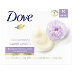 Dove Purely Pampering Beauty Bar, Sweet Cream and Peony, 8 Bar- 4 oz
