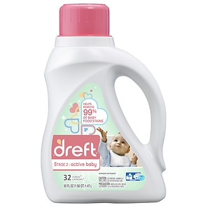 Dreft Dreft Stage 2 Active Baby Liquid Detergent 32 loads, Original Baby Fresh Scent