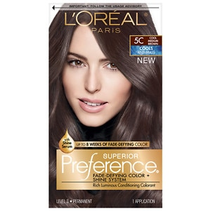 L'Oreal Paris Preference Fade Defying Color & Shine System, Permanent, Cool Medium Brown