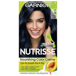 Garnier Nutrisse Permanent Haircolor, Intense Blue Black 22