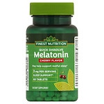 Finest Natural Melatonin Quick Dissolve 3 mg, Cherry- 60 ea