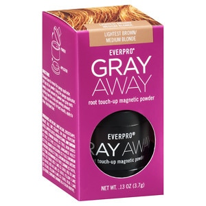 Everpro Gray Away Root Touch-Up Magnetic Powder, Lightest Brown/Medium Blonde, .13 oz