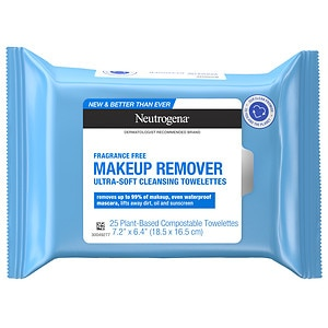 Neutrogena Makeup Remover Cleansing Towelettes, Fragrance Free, 25 ea