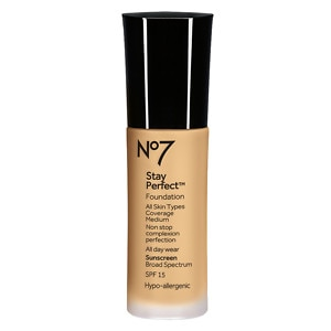 Boots No7 Stay Perfect Foundation SPF 15, Honey, 1 oz