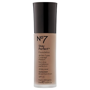 Boots No7 Stay Perfect Foundation SPF 15, Cool Beige, 1 oz