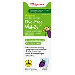 Walgreens Wal-Zyr Children's Sugar-Free Dye-Free Liquid, Grape- 4 oz