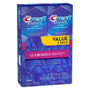 Crest 3D White Luxe Glamorous White Flavor Whitening Toothpaste,
