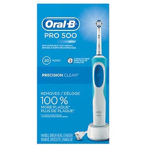 Oral-B Pro 500 Electric Rechargeable Toothbrush with Precision Clean Brush Head