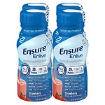 Ensure Enlive Advanced Nutrition Shake, Strawberry, 4pk- 8 oz