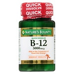 Nature's Bounty B-12 5000 mcg, Quick Dissolve- 40 ea