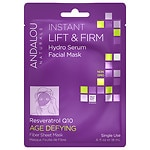 Andalou Naturals Instant Lift & Firm Hydro Serum Facial Mask, Resveratrol Q10, Single Use- .6 oz