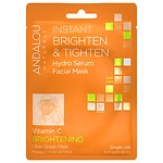 Andalou Naturals Instant Brighten & Tighten Hydro Serum Facial Mask, Vitamin C, Single Use- .6 oz