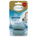 Amope Pedi Perfect Wet & Dry Rechargeable Foot File Refills, Regular Coarse- 2 ea