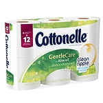 Cottonelle GentleCare with Aloe & E Double Roll Toilet Paper, 6 Rolls- 204 ea
