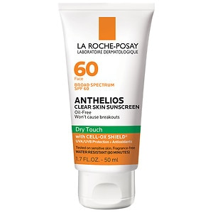 La Roche-Posay Anthelios Clear Skin Face Dry Touch Sunscreen, SPF 60