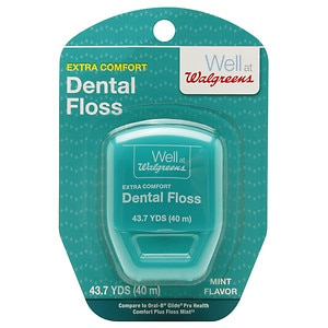 Walgreens Dental Floss Extra Comfort, Mint